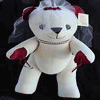 Wedding - Bride Message Bear Burgundy - 47cm