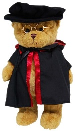 Graduation Bear 35cm 'Doctor PHD Hat'